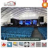 Tienda grande del concierto de Sturcture del marco del palmo del claro del polígono para el concierto de Muscial