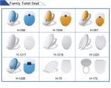 Un botón de liberación rápida asiento de inodoro lentos cerrado Duroplast