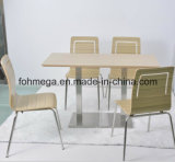 4脚の椅子(FOH-NCP7)が付いているファースト・フード店街の合板のダイニングテーブル