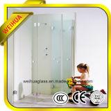 4mm-19mm/de cor clara de alta qualidade de chuveiro porta de vidro temperado