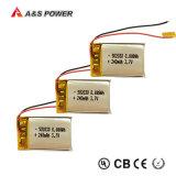 Перезаряжаемые батарея 250mAh 3.7V Lipo с сертификатом UL для наушника Bluetooth