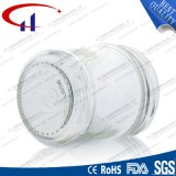 frasco de vidro do molho do espaço livre do cilindro 350ml (CHJ8023)
