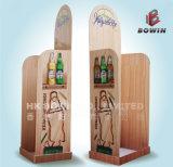 Бумажные материальные полки индикации чонсервной банкы пива, индикация бумаги стеллажей для выставки товаров пива картона