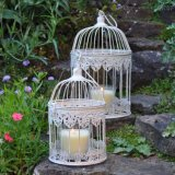 Jaula de pájaro del arrabio S/2 para el hogar y el jardín
