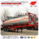 Acier inoxydable de vente chaude 40 pieds de conteneur de camion-citerne de remorque semi