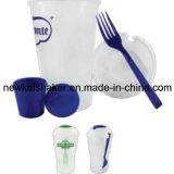 음식 급료 샐러드 컵 플라스틱 셰이커 컵3 에서 1