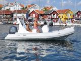 De Liya el 19FT de la pesca de la fibra de vidrio barco inflable especial de la costilla semi