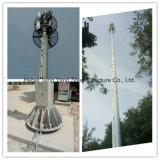 Vietnam les antennes unipolaires micro-ondes en acier de l'antenne de la tour de télécommunications de mât
