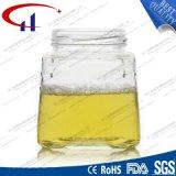 recipiente de vidro branco elevado do mel 230ml (CHJ8032)