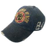 Nouvelle casquette de baseball à base de denim lavé avec patch Gjwd1762