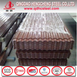 Hoja acanalada galvanizada prepintada del acero PPGI