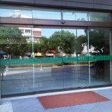 Bajo ruido de puertas automáticas, el Bastidor de acero inoxidable puerta corrediza de vidrio