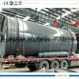 Doopr grand ouvert pétrole de pyrolyse de pneu de 10 tonnes faisant la machine