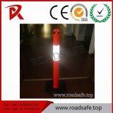 Alta visível T-Top 1100mm Reflective plástico desmontável mola de tração estática Delineator Post
