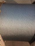 Ligne corde galvanisée entrée en contact 6X25fi+FC/Sc de fil d'acier