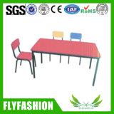 Móveis para crianças Mesa de estudo de cor vermelha com cadeira (KF-49)