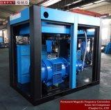 Elétrico dirigir o compressor de ar giratório conduzido do parafuso dos rotores gêmeos