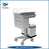 Mobile Krankenhaus-Krankenpflege-Karre mit Fächern