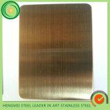 Лист из нержавеющей стали 304 золотистой окраски визирной линии Satin цвета металла для панели управления