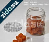 Os doces plásticos desobstruídos redondos do animal de estimação do produto comestível enlatam por atacado