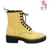 Цветастая Lace-up повелительница Работник Ботинок лодыжки PU кожаный (AB633)