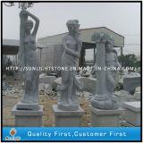 Granit-u. Marmor-Steingarten-Skulptur, geschnitzter Brunnen, Statue für Dekoration (Steinschnitzen)