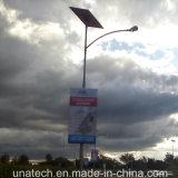 Лампа полюс солнечная панель с подсветкой для установки вне помещений пленка баннер Flex LED реклама блок освещения