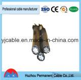 Mantener el cable de arriba aislado XLPE/PE de aluminio del ABC del conductor de la gota 1000V