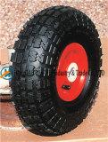 """10의 """" 고무 바퀴를 가진 X3.50-4 압축 공기를 넣은 바퀴"""