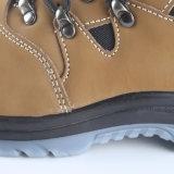 Zapatos de trabajo de cuero de la seguridad en el trabajo de la inyección de la PU de Nubuck