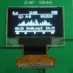 0.96 pulgadas de 128x64 Blanco Mono Módulo OLED (PG-2864HMBEG02)