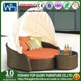 Rattan-Sofa-gesetztes Innenim freiensofa-Aufenthaltsraum-Couch-Einstellungs-Möbel-Bett (TGLU-58)