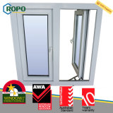 Casement elevado Windows do dobro do impato de UPVC para a zona do furacão