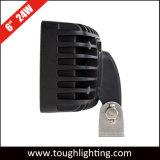 "Rectangular de 6"" 24W 1800 lúmenes de montaje horizontal o vertical off-road luz LED de trabajo para la carretilla ATV UTV"