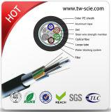 12/24/36/48 conduit simple de jupe de SM de faisceau et câble de fibre optique aérien (GYTA)