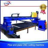 Máquina de estaca eficiente do Oxy-Combustível do plasma do CNC para a chapa de aço/tubulação