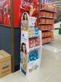 Knall-Pappfußboden-Bildschirmanzeige mit 2 Regalen für Spielwaren, Knall-Ausstellungsstand, kundenspezifische Knall-Bildschirmanzeige