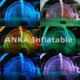Tente gonflable de mariage de forme d'interpréteur de commandes interactif avec l'éclairage de DEL