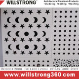 Cor do painel de parede sólida de alumínio revestido de PVDF PET