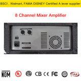 8 de Versterker van de Transistor van de Mixer van de Macht van het kanaal AC115V/230V-50h/60Hz