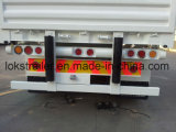 40 Pies 3axle Flatbedwith laterales abatibles Semirremolque