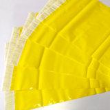 Adhesivo del sello de encargo del color amarillo Poli bolso expreso