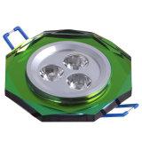 Light di cristallo 3W Green
