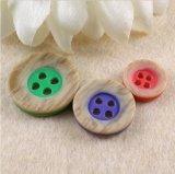 Botón de alto grado colorido al por mayor de la resina de la fábrica
