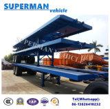 40FT 2 Aanhangwagen van de Vrachtwagen van de Lading van het Vervoer van de Container van de As Flatbed