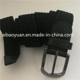 Ficha preta de cor pura Estique as correias de Cintura Yarms de algodão