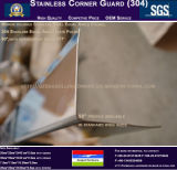Paroi en acier inoxydable de protecteurs de gardes d'angle Profil de mur
