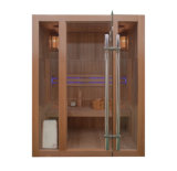 Panel de madera salas de sauna de vapor, cabina de sauna de la estufa portátil
