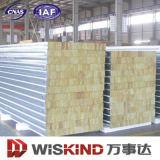 Оцинкованного стального листа минеральных шерсть Сэндвич панели для установки на стену