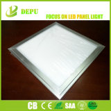Frame de prata fresco do branco 6000K 40W luz de painel lisa da telha do painel de teto do diodo emissor de luz de 600 x de 600mm